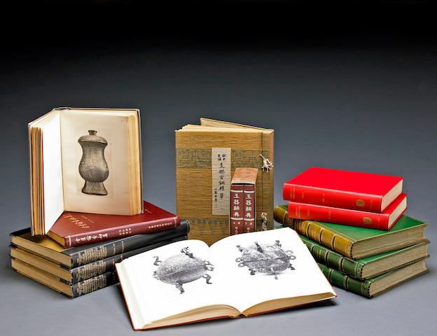 An Extensive Library of books on Chinese Bronzes, Jades, Sculpture, Painting, and Archaeology.