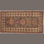 A Kazak carpet Caucasus, size approximately 4ft. 8in. x 8ft. 6in.