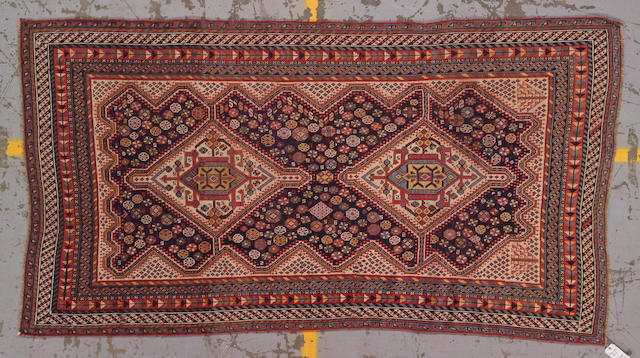 A Qasqhai rug Southwest Persia, size approximately 4ft. 2in. x 8ft. 6in.