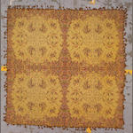 A European shawl size approximately 5ft. 6in. x 5ft. 6in.