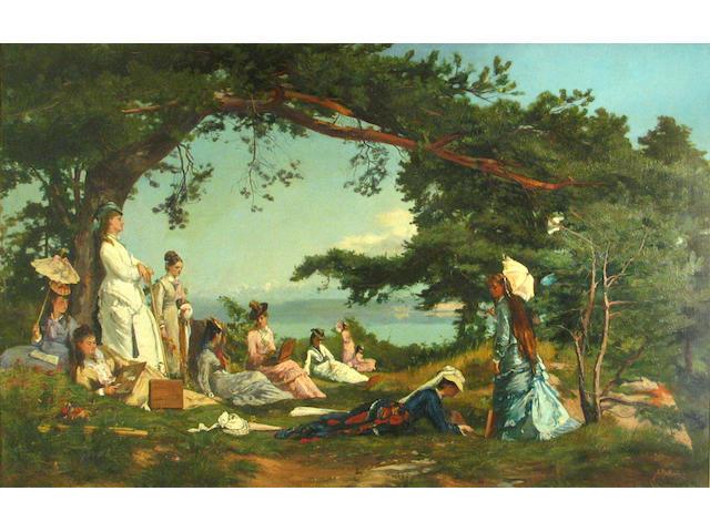 Auguste Henry Berthoud (Swiss, 1829-1887) Les élèves 26 1/4 x 39 1/2in