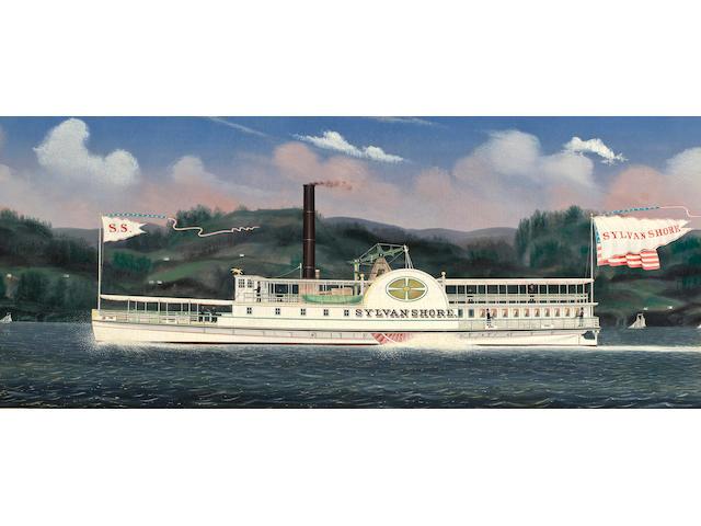 (n/a) James Bard (American, 1815-1897) The Hudson River Dayliner Sylvan Shore 17-1/2 x 44 in. (44.4 x 111.7 cm.)