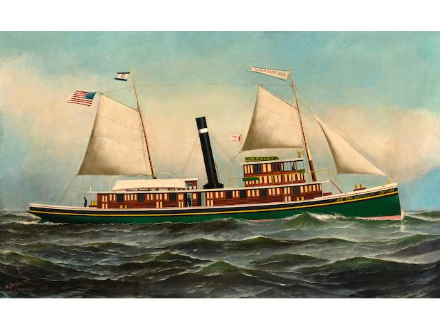 (n/a) Antonio Nicolo Gasparo  Jacobsen (American, 1850-1921) The steam tug Joseph Stickney at Sea 25 x 39 in. (63.5 x 99 cm.)