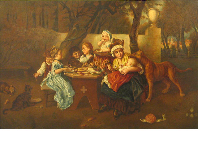 French School 19th C., The picnic