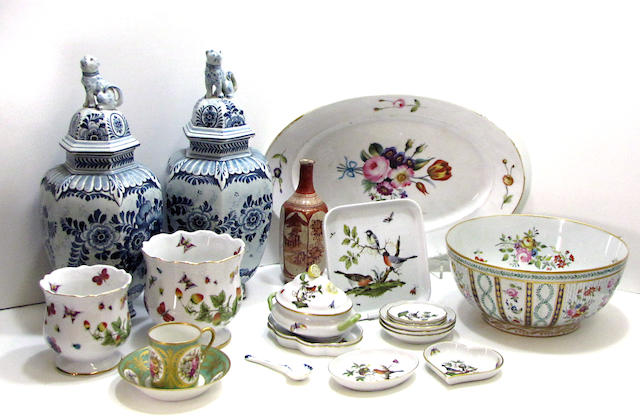 An assembled group of Continental and Asian ceramics 19th/20th century