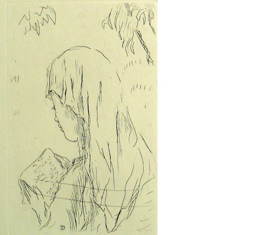 Pierre Bonnard (French, 1867-1947); Jeune Fille Lisant, from La Vie de Sante Monique;