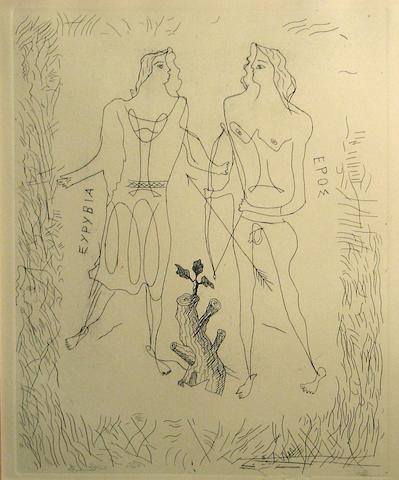 Georges Braque (French, 1882-1963); Eurybia et Eros;
