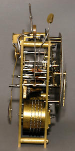 "A Chinese export gilt bronze and paste set quarter striking bracket clock.Signed on the movement, ""Leong Han Hin [?], Canton , China"", early 19th century"