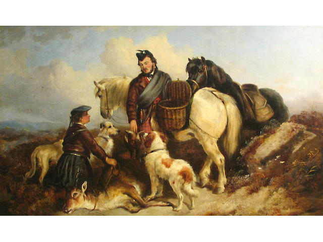 Circle of Richard Ansdell, RA (British, 1815-1885) After the hunt 30 x 50in