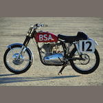 Ex-factory race bike, Daytona 200 polesitter,1957 BSA 500cc  Gold Star 'Daytona Beach Special' Frame no. CB326015 Engine no. DBD34GS2389