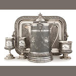 A rare Victorian Reed & Barton five piece lemonade set