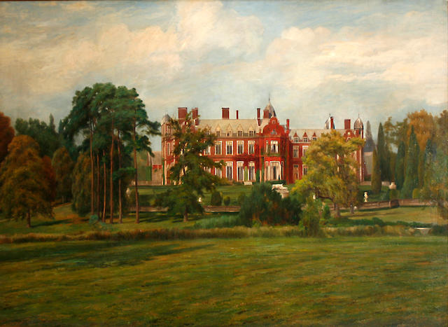 English School A view of Lynford Hall, Mundford, Norfolk 49 1/4 x 83in