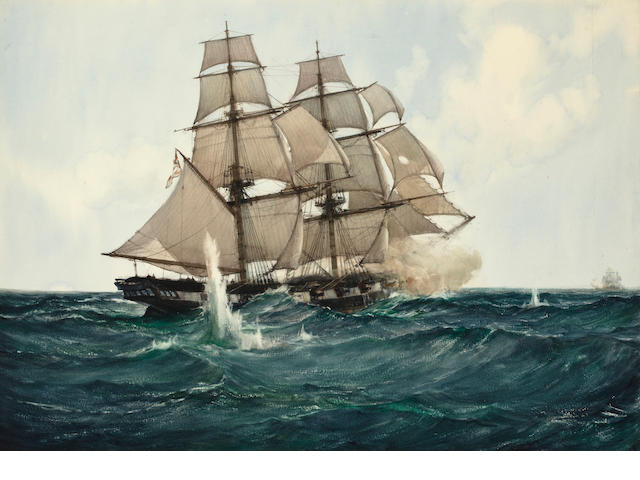 Montague Dawson Jr, watercolor