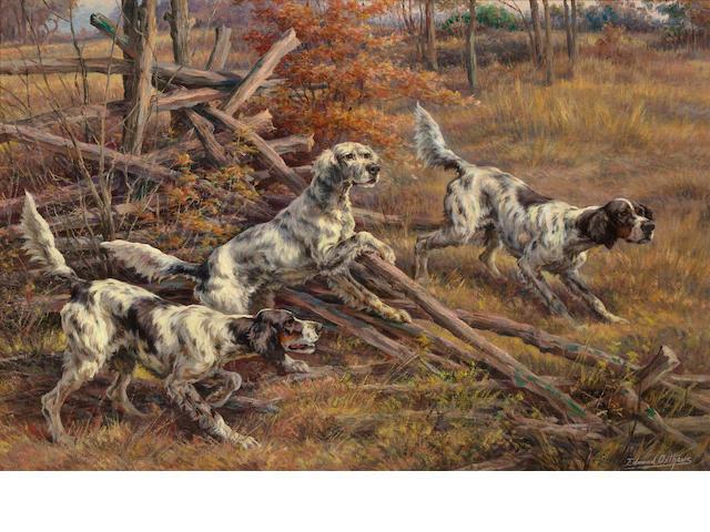 Edmund Henry Osthaus (American, 1858-1928) Three setters