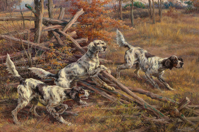Edmund Henry Osthaus (American, 1858-1928) Three setters