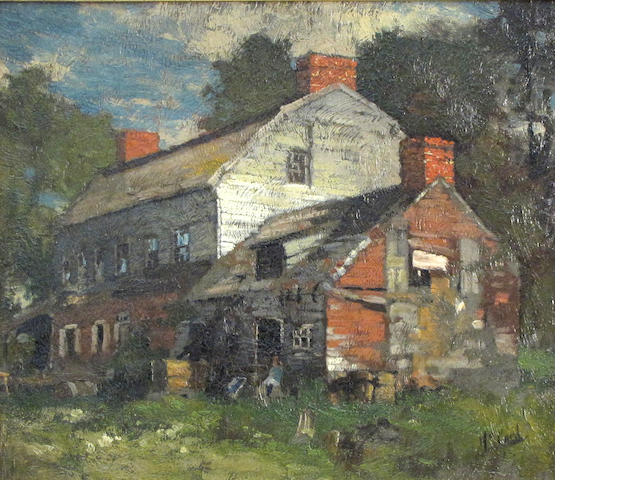 George Herbert McCord (1848-1909)  The Old Farmhouse 12 1/4 x 14in