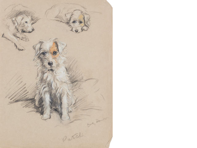 Lucy Dawson (British, -1954) 'Patch' - A Wire-haired Terrier 11 3/16 x 8 1/2 in. (28.4 x 21.6 cm.) unframed
