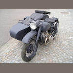 1940 Moskva M72 Military Bike with Sidecar