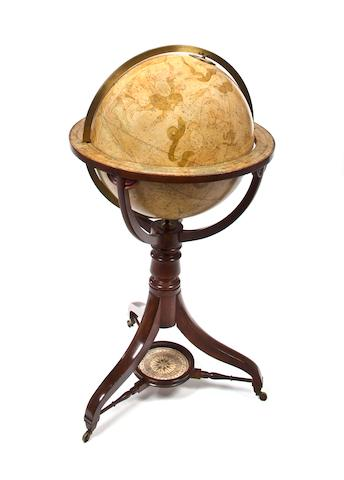 An 18-inch Celestial library floor globe  London, 1816 43 x 24 in. (109.2 x 60.9 cm.) overall dimensions.