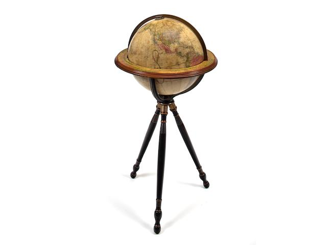 A Joslin 16 inch Terrestrial floor globe <br>Boston, late 19th century