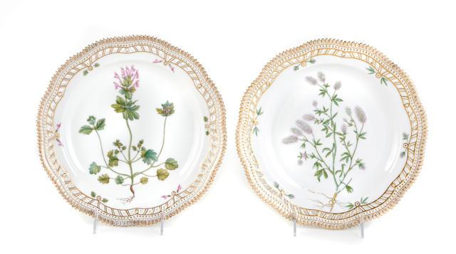 A set of twenty-nine Royal Copenhagen 'Flora Danica' dinner plates