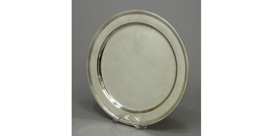 Sterling circular tray by Tiffany & Co.