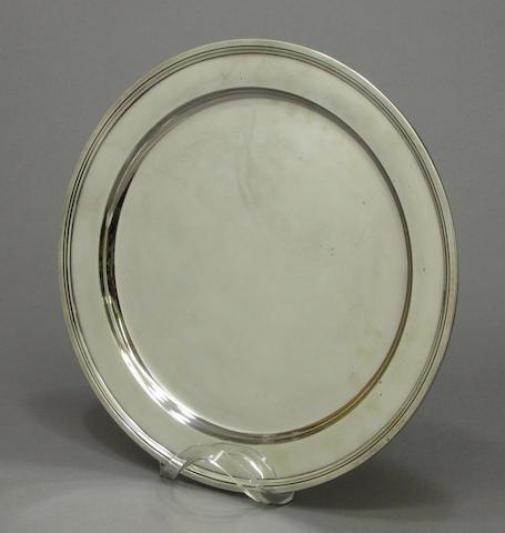 Sterling circular tray by Tiffany & Co.