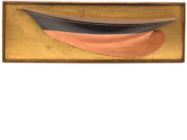 A 19th century builder's model of a sloop