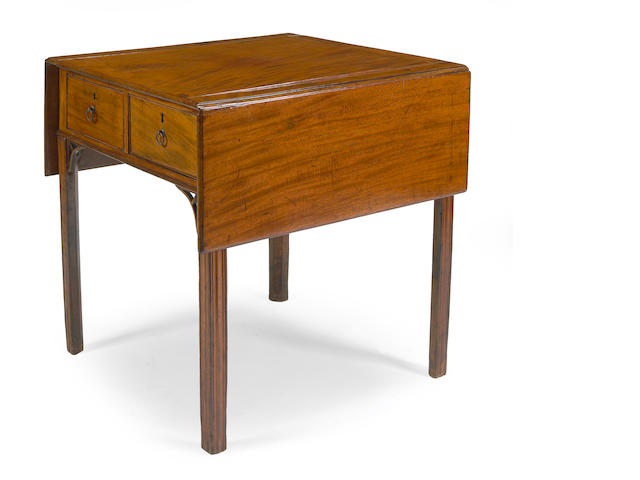 An unusual George III mahogany drop-front architect's table