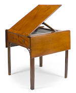 An unusual George III mahogany artist's pembroke table