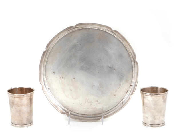Sterling group of table articles retailed by Cartier
