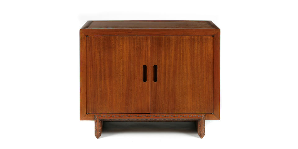A Frank Lloyd Wright mahogany side cabinet for Heritage Henredon, 1950s