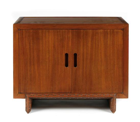 A Frank Lloyd Wright mahogany side cabinet for Heritage Henredon, 1950s