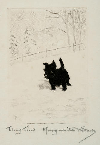 Marguerite Kirmse (American, 1885-1954) Tiny Tim, fall 1925 3 3/8 x 2 3/8 in. (8.6 x 6 cm.)