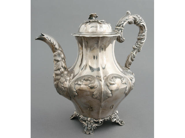 Victorian silver coffee pot by Hayne & Cater