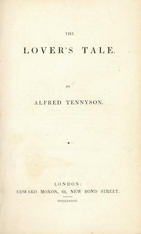 TENNYSON, ALFRED. 1809-1892. ROBERT BROWNING'S COPY?  The Lover's Tale. London: Edward Moxon, 1833.