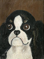 Carl Reichert (Austrian, 1836-1918) Japanese Chin 6 1/2 x 5 1/4 in. (16.5 x 13.3 cm.)