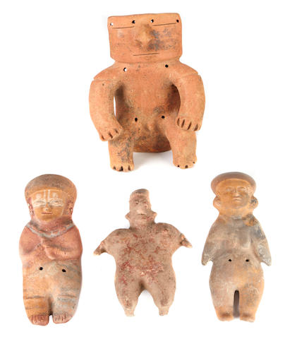 A group of four Pre-Columbian figures