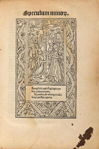 [FRANCISCANS.] Speculum minorum. Rouen: Martin Morin, 1509.