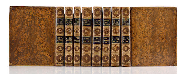 COOK, JAMES. 1728-1779. A COMPLETE SET OF COOK'S VOYAGES.