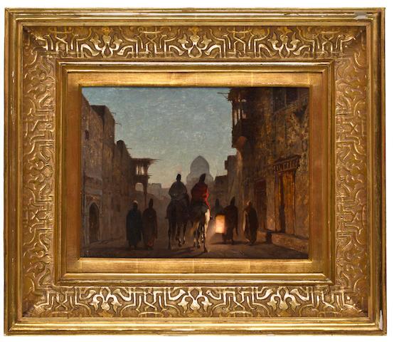 (n/a) Alberto Pasini (Italian, 1826-1899) Street scene by lantern light