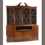 A George III Mahogany secretary bookcase cabinet late 18th/early 19th century