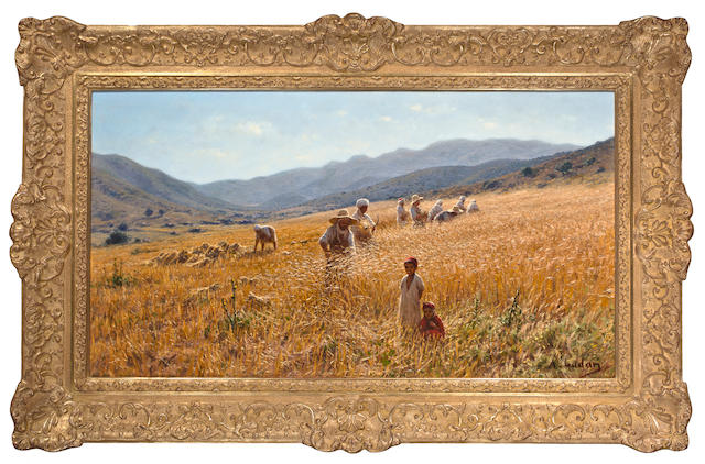 Antoine Gadan (French, 1854-1934) Les Moissonneurs, Algerie