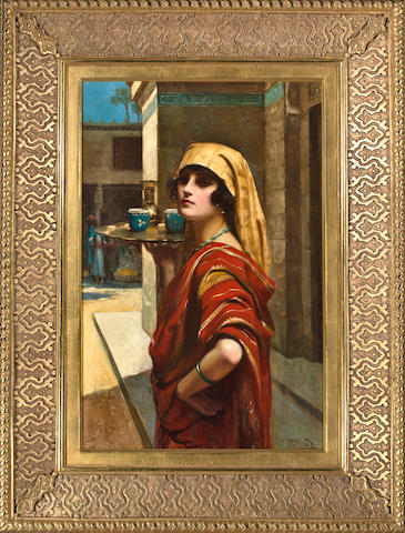 Elizabeth Pillard (19th century) Egyptian coffee maiden