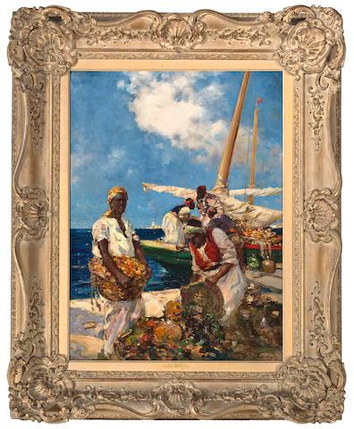 Dudley Hardy (British, 1865-1922) Crustacean traders