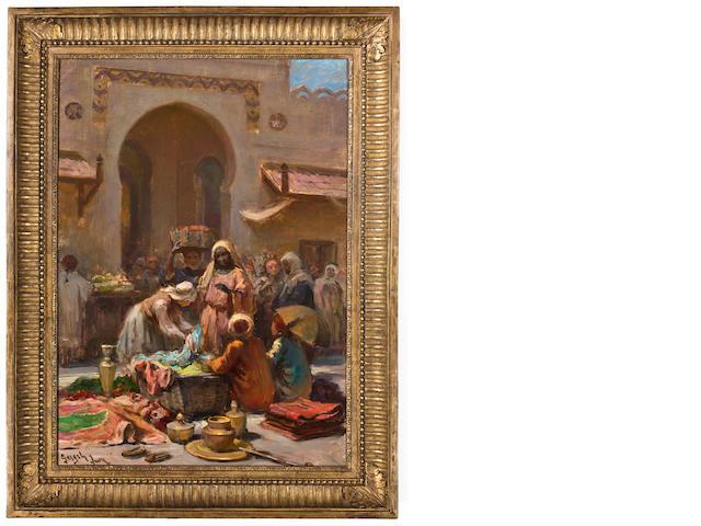 Imre Gergely (Hungarian, 1868-1914) Trading wares