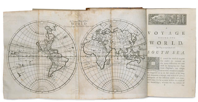 SHELVOCKE, GEORGE. A Voyage Round the World by the Way of the Great South Sea. London: for J. Senex; W. and J. Innys; J. Osborn and T. Longman, 1726.