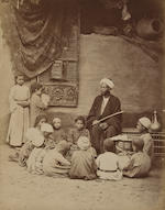 19th century photographs, woman and children