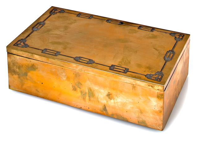 A Heinz silver and bronze humidor patented August 23, 1918