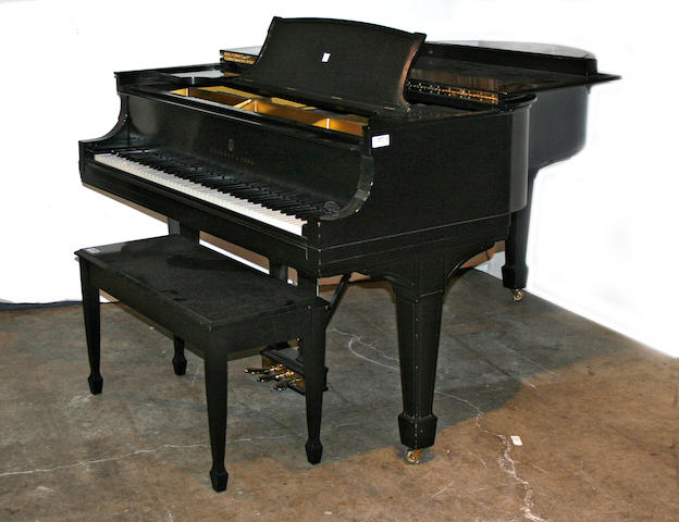 A Steinway baby grand piano